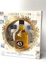 Licor 43 Original + 2 Limited Edition Glazen