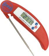 Gohh® Digitale Vleesthermometer (Rood) - BBQ - Inklapbare Sonde - tot 300°C