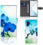 Samsung Galaxy Note 10 Plus Hoesje Orchidee Blauw