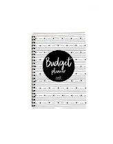 Zoed - budgetplanner - kasboekje - A5 formaat - zwart wit