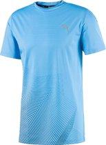 PUMA Last Lap Graphic Tee Heren Sportshirt - Ethereal Blue - Maat M