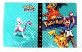 Pokémon Verzamelmap 4 Pocket - 240 Pokemon Kaarten album - Pikachu Ash