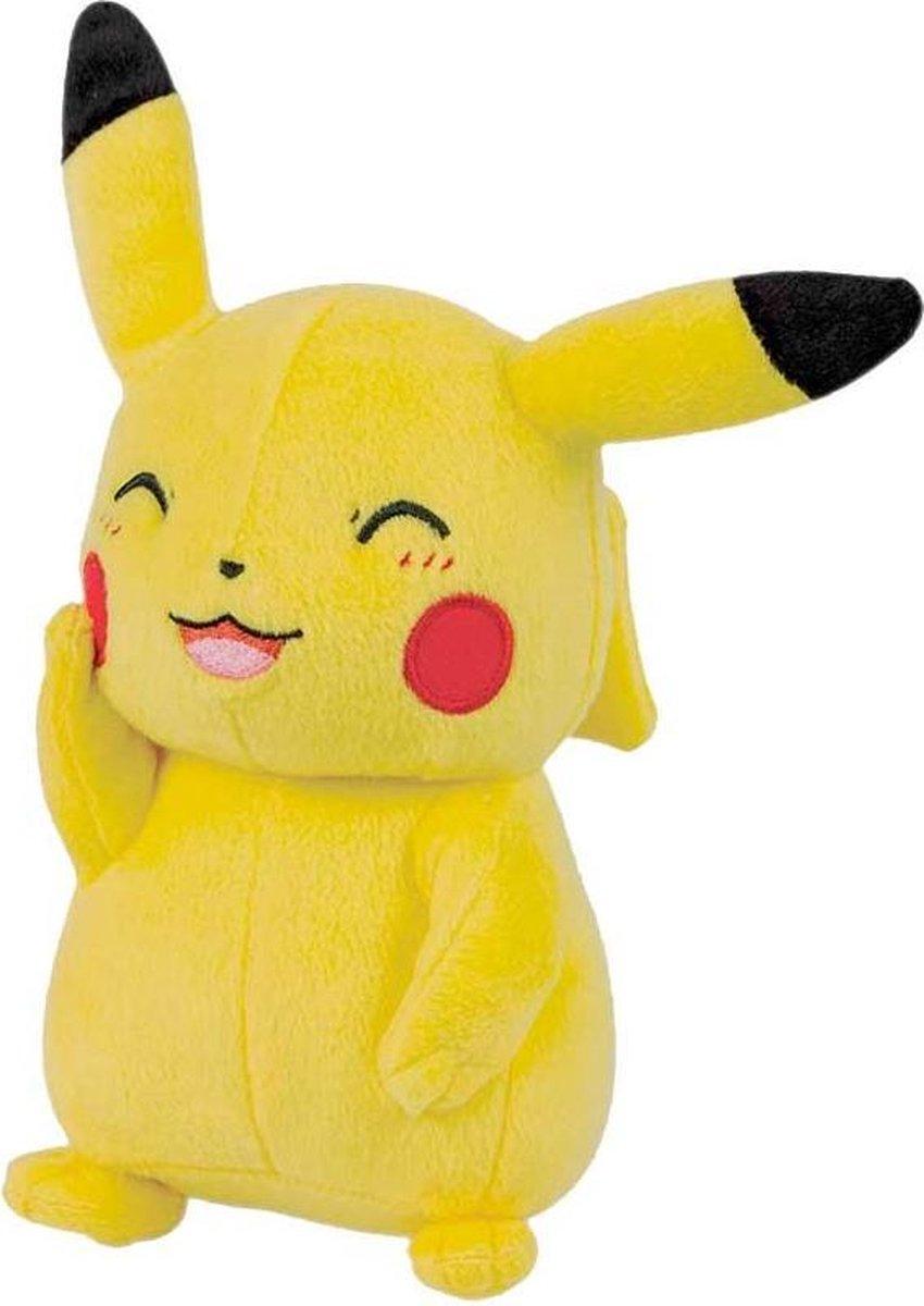 Pokemon - Pikachu - Knipoog - Pluche Knuffel (Tomy) - 20 cm