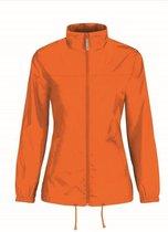 Dames regenkleding - Sirocco windjas/regenjas in het oranje - volwassenen L (40) oranje