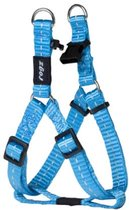 Rogz For Dogs Nitelife Step-In Hondentuig - 11 mm x 27-38 cm - Turquoise