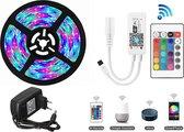WIFI Smart LED | RGD LED strip | 5 meter | Bedienbaar met je smartphone (applicatie Magic Home) |compatible met Google assist en Alexa | Incl afstandsbediening
