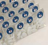 100 Traktatie zakjes KLEIN -  Doopsuiker verpakking  - Snoepzakjes