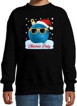 Foute kersttrui / sweater Christmas party zwart voor jongens - coole kerstbal - kerstkleding / christmas outfit 12-13 jaar (152/164)