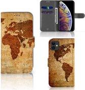 Flip Cover iPhone 11 Wereldkaart