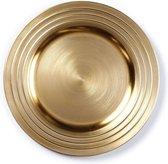 Rond goudkleurig kaarsenplateau 33 cm - Woonaccessoires/woondecoraties