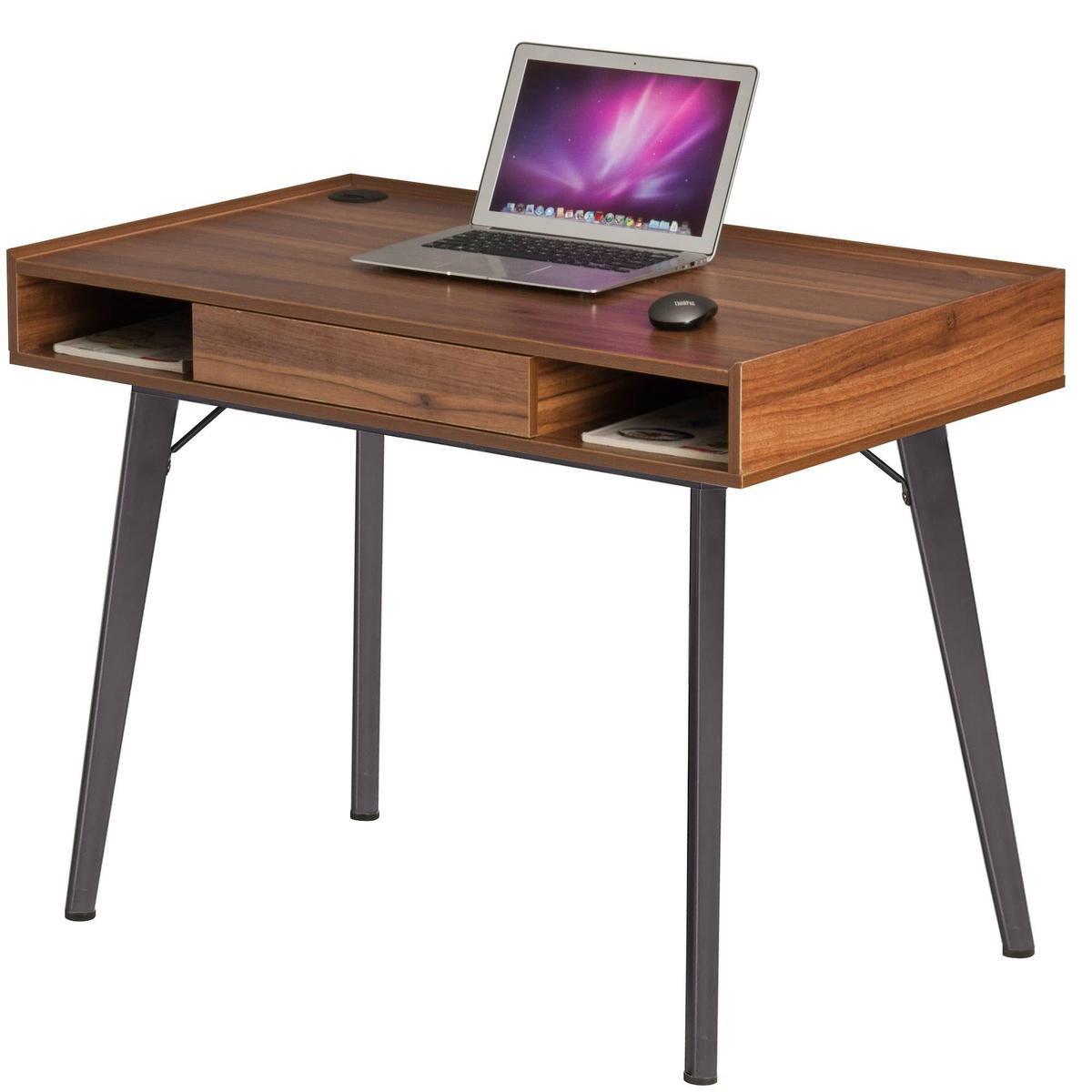 Piranha TRIGGER Vintage Bureau / Retro Computerbureau – Lade - Opbergvakken - PC 43n - 100x60x77 cm - Piranha Furniture