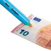 NextGadgets Vals geld pen | valsgeld detectiepen inclusief GRATIS UV led lamp - blauw