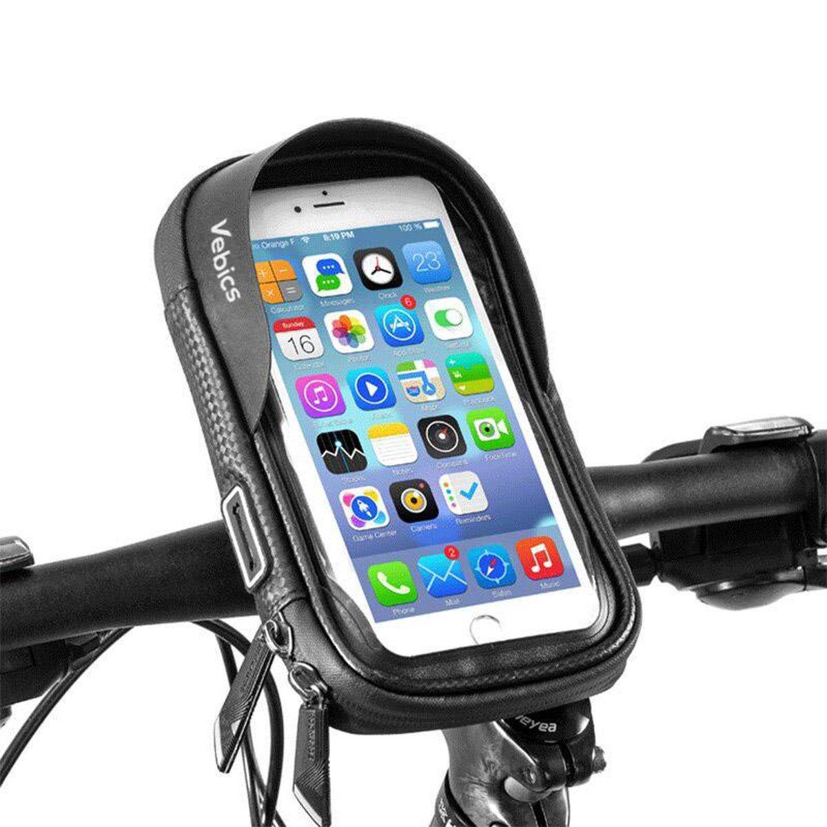Vebics® - Telefoonhouder Fiets - Universeel - Waterbestendig - Gsm houder fiets - Fiets telefoonhoud