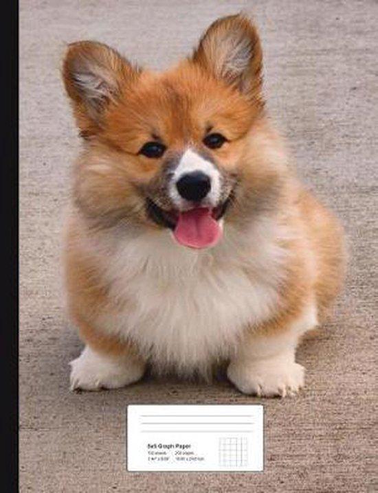 Corgi Puppy Graph Paper Composition Book