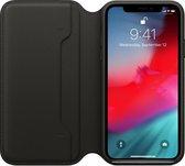 Apple Leren Folio Hoesje voor iPhone X/Xs - Zwart