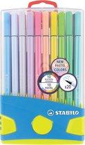 STABILO Kleurstift Pen 68 Pastelparade - set van 20 stuks met ophangclip