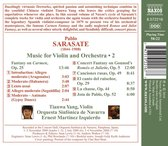 Sarasate: Music For Violin 2