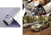 ProCar - Chroomfolie Auto - 50 x 150 cm - Zelfklevend - Watervast - Wrap folie auto - Chroom wrap folie - Afneembaar - Auto styling