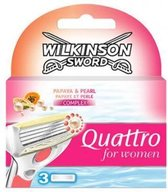 Wilkinson Sword Quattro For Women Razor Blades 3pcs