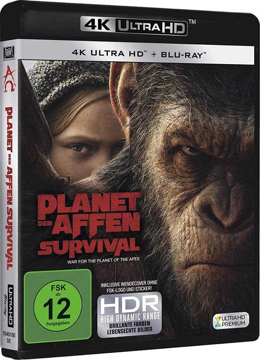 War For The Planet Of The Apes (2017) (Ultra HD Blu-ray & Blu-ray)-