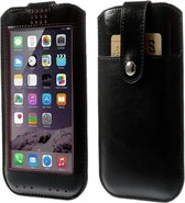 View Cover voor Huawei Ascend G526, Hoes met Touch Venster, zwart , merk i12Cover