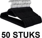 Relaxwonen - 50 STUKS Ruimtebesparende Antislip kleerhangers met Broeklat | Ultra Dunne Kleerhangers met 360 graden draaibare haak | Ruimtebesparend Kledinghangers | Kleur: ZWART | Set van 50 Stuks
