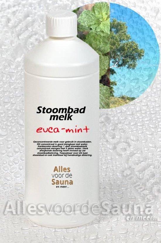 Stoombadmelk eucalyptus-mint 1 Liter
