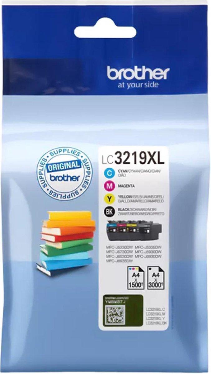 Brother LC-3219XLVAL - Inktcartridge / Zwart / Cyaan / Magenta / Geel
