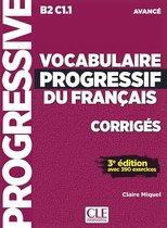 Vocabulaire progressif du français 3e édition - niveau avancé corrigés