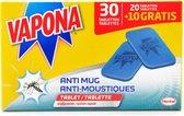 Vapona Anti-mug Tablets 30 nachten