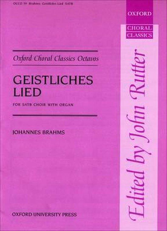 Boek cover Geistliches Lied (Sacred Song), Op. 30 van Brahms (Onbekend)