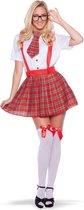 Nerd Meisje - 3-delig - Verkleedkleding - Volwassenen - Maat L/XL