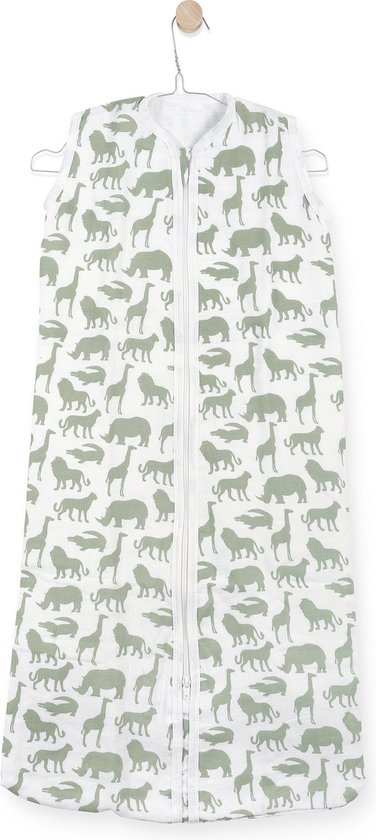 Product: Jollein Slaapzak zomer hydrofiel 70cm Safari forest green, van het merk Jollein