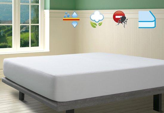 SAVEL – Waterdichte en ademende, 100% katoenen badstof matrasbeschermer  – 90x200cm