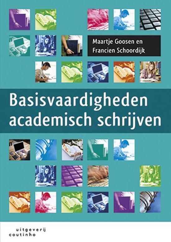 Boek cover Basisvaardigheden academisch schrijven van Francien Schoordijk (Paperback)