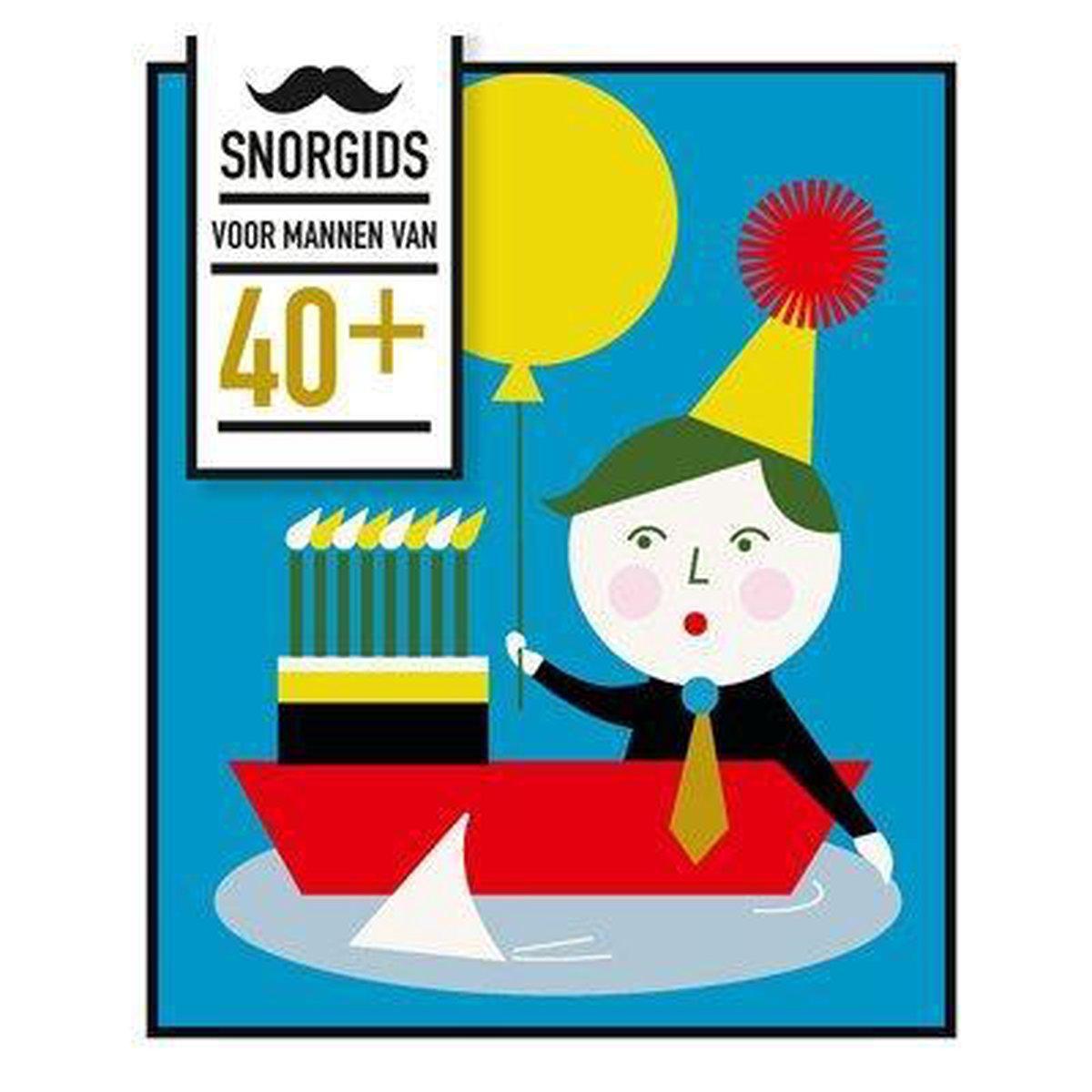 Snor-gids - Snorgids voor mannen van 40 plus - kado man 40 jaar