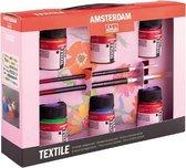 Amsterdam Deco textielverf 6 flacons 16ml met penselen