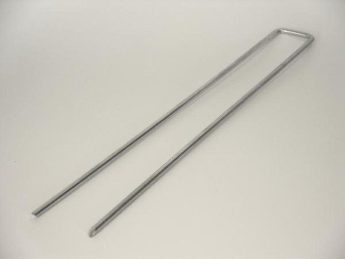 gronddoekpennen , kunstgraspennen , worteldoek haken 100 st , 30 x 5 x 30 cm - Nature