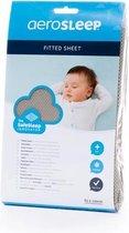 AeroSleep® SafeSleep hoeslaken - bed -  120  x 60 cm - donkergrijs