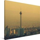Milad toren in Teheran in Iran Canvas 40x30 cm - klein - Foto print op Canvas schilderij (Wanddecoratie woonkamer / slaapkamer)