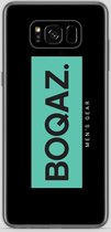 BOQAZ. Samsung Galaxy S8 hoesje - Labelized Collection - Turquoise print BOQAZ