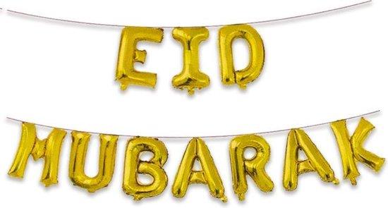 Folieballonnen set Suikerfeest 'Eid Mubarak'