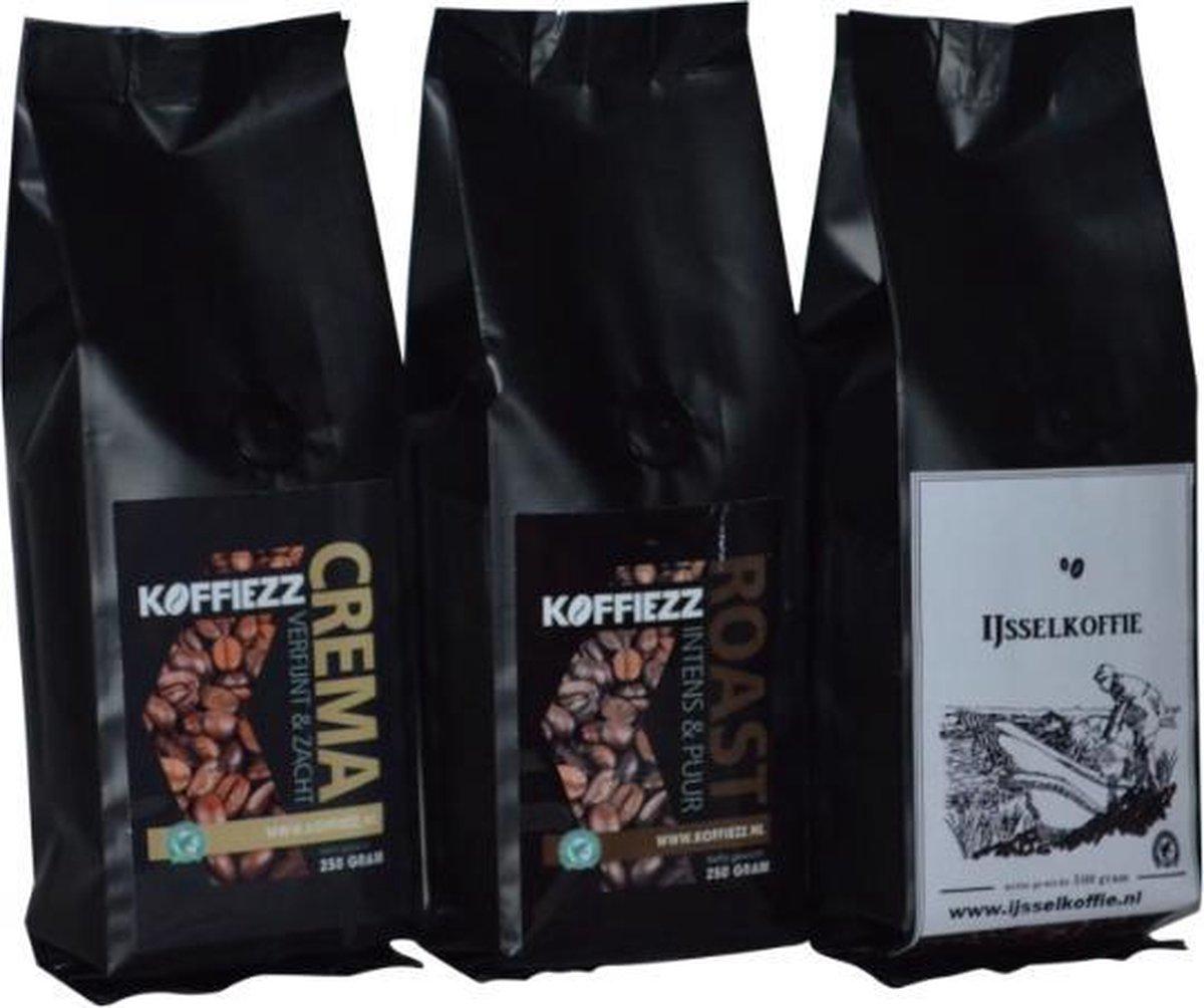 Koffiezz Proefpakket koffiebonen - 3 x 250 gram - koffiezz