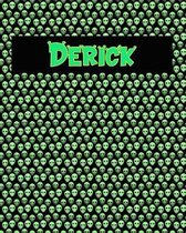 120 Page Handwriting Practice Book with Green Alien Cover Derick