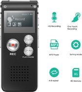8GB Digitale Audio Voice Recorder / Memorecorder Zwart
