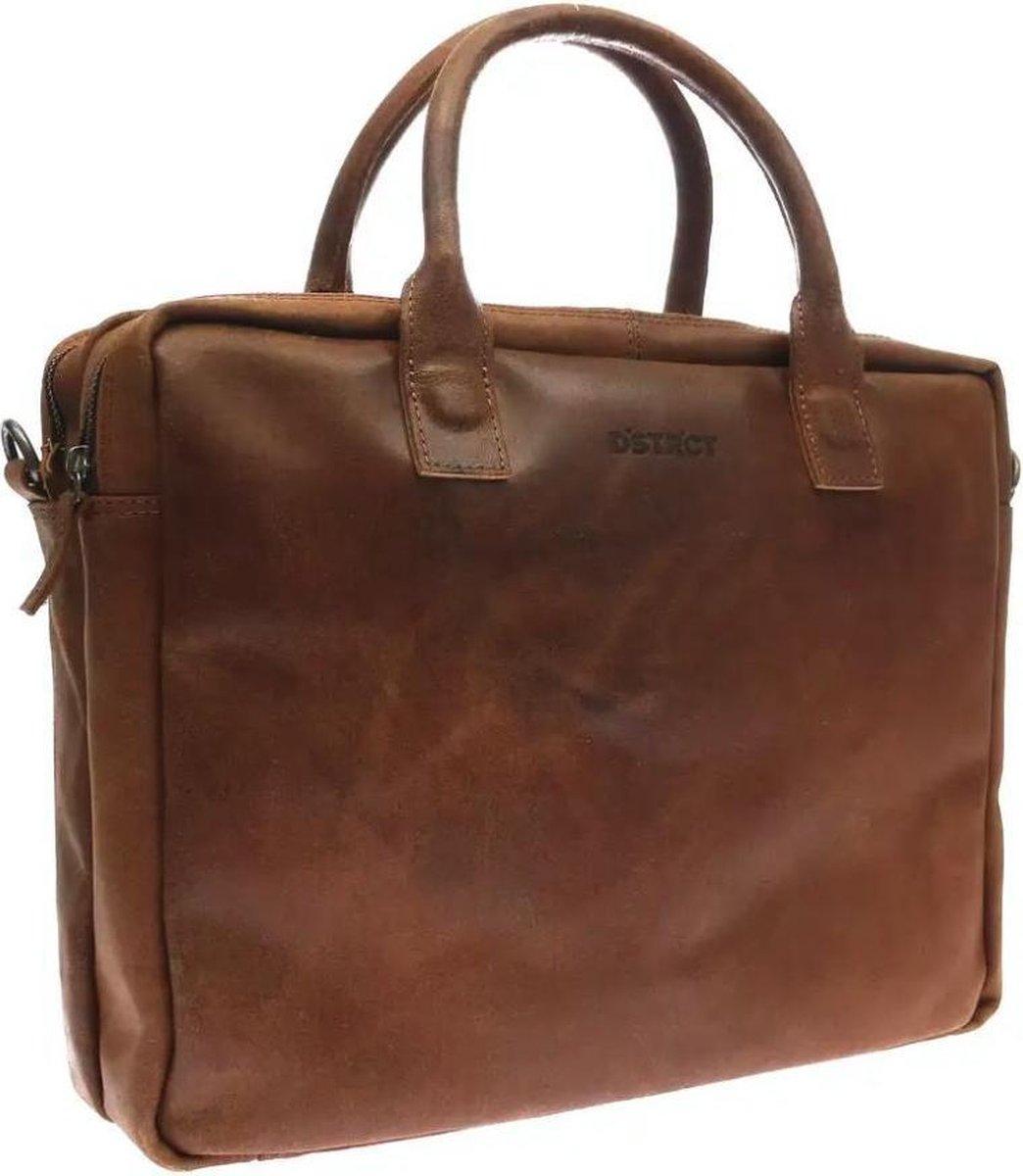 DSTRCT Fletcher Street Leren Laptoptas - 15,6 inch - Cognac