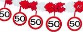 Verkeersbord feestslingers 50 jaar - 4 meter - feestartikelen versiering 50 jaar - Multi