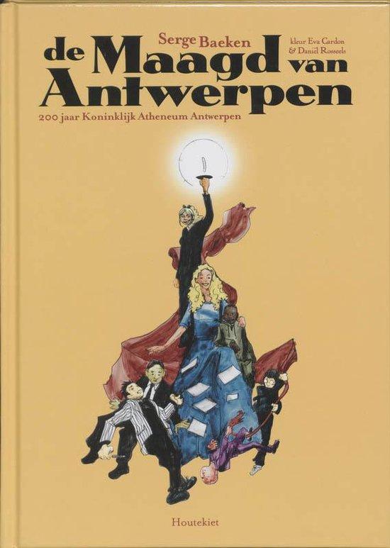 Cover van het boek 'De maagd van Antwerpen' van S. Baeken