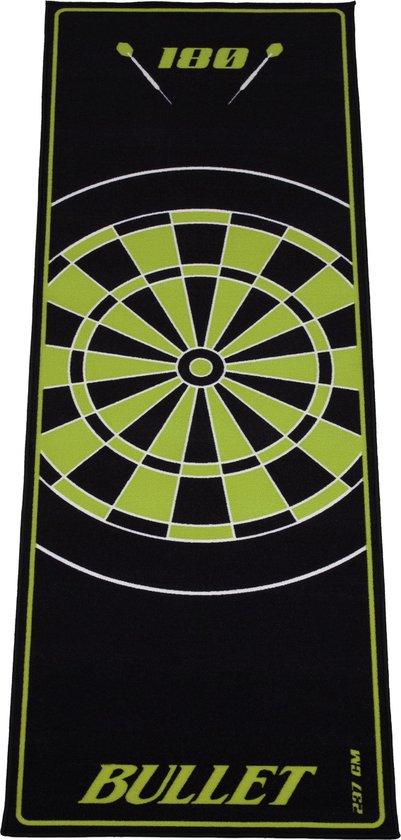 Dragon darts - Bullet Groen 237x80 cm - dartmat – dart vloerkleed