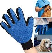 Huisdierenborstel - handschoen - verzorgingsborstel - harenborstel - massageborstel- katten - honden - siliconen - handschoen